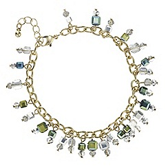 The Collection - Tonal green beaded bracelet