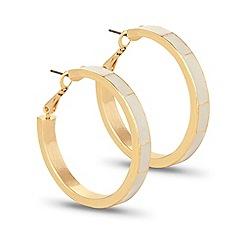 J by Jasper Conran - Designer cream enamel gold hoop earring