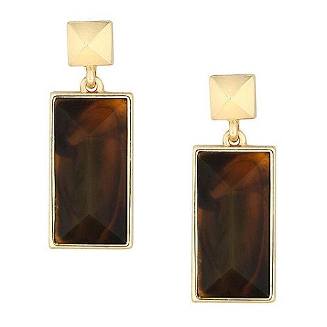J by Jasper Conran - Designer tortoiseshell effect drop earring