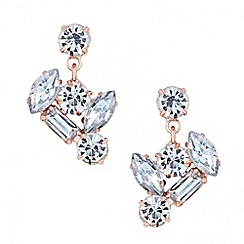 J by Jasper Conran - Designer rose gold crystal stone drop earring