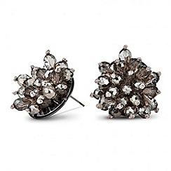J by Jasper Conran - Designer 3-d floral cluster stone earring