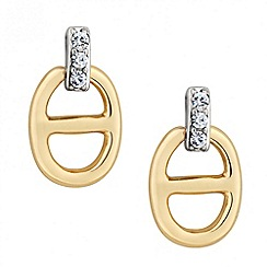 J by Jasper Conran - Designer two tone crystal link earring