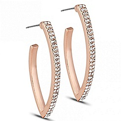 J by Jasper Conran - Designer crystal set angled hoop earring