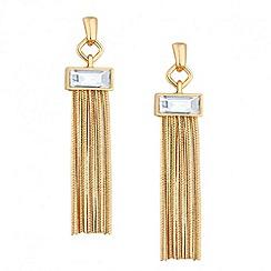 J by Jasper Conran - Designer crystal baguette tassel drop earring