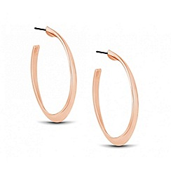 J by Jasper Conran - Designer rose gold angular hoop earring