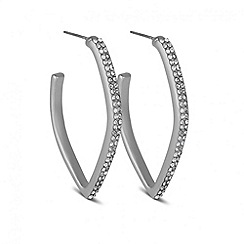J by Jasper Conran - Designer crystal encased angular hoop earring