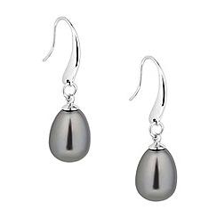 J by Jasper Conran - Designer grey pearl teardrop earring