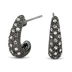 J by Jasper Conran - Designer mini crystal hematite curve earring