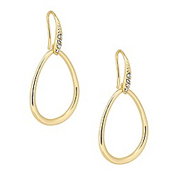 J by Jasper Conran - Designer oval gold hoop drop earring