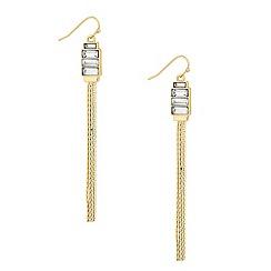 J by Jasper Conran - Designer baguette crystal tassel drop earring