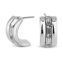 J by Jasper Conran - Designer baguette crystal half hoop earring