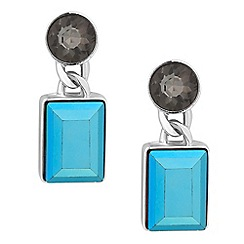 J by Jasper Conran - Designer crystal top blue stone drop earring
