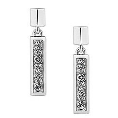 J by Jasper Conran - Designer crystal encased rectangular drop earring