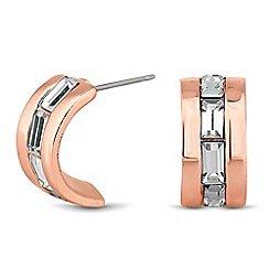J by Jasper Conran - Designer rose gold mini baguette hoop earring