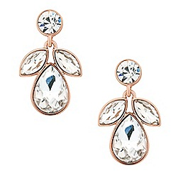 J by Jasper Conran - Designer rose gold crystal navette drop earring
