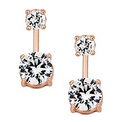 J by Jasper Conran - Designer rose gold crystal round drop earring