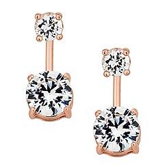 J by Jasper Conran - Designer rose gold crystal round drop earring