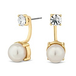 J by Jasper Conran - Designer crystal top pearl drop earring
