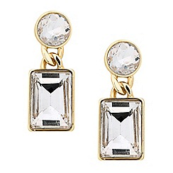J by Jasper Conran - Designer round and square crystal drop earring