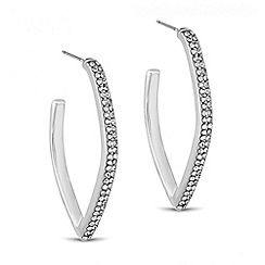 J by Jasper Conran - Designer crystal angular hoop earring