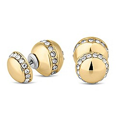 J by Jasper Conran - Designer crystal embellished double ball stud earring