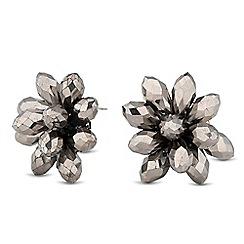 J by Jasper Conran - Designer hematite flower stud earring