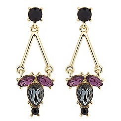 J by Jasper Conran - Designer mixed purple drop earring