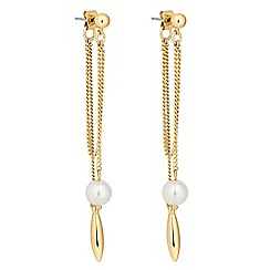 J by Jasper Conran - Designer pearl chain front to back earring