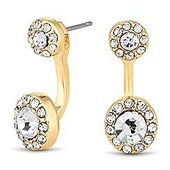 J by Jasper Conran - Designer gold crystal surround round drop earring