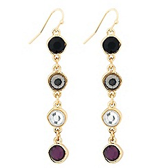 J by Jasper Conran - Designer double sided purple stone drop earring