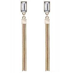 J by Jasper Conran - Designer baguette stone tassel drop earring