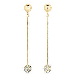 J by Jasper Conran - Designer crystal ball tassel drop earring