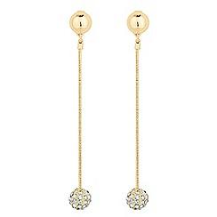 J by Jasper Conran - Designer crystal ball tassel drop earring