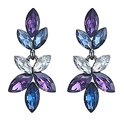 J by Jasper Conran - Designer blue and purple navette drop earring