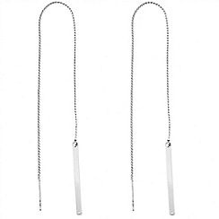 J by Jasper Conran - Designer polished stick thread through earring