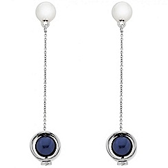 J by Jasper Conran - Designer blue pearl chain drop earring