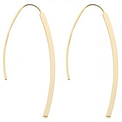 J by Jasper Conran - Designer polished gold stick earring