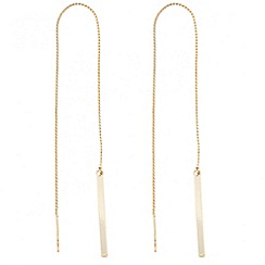 J by Jasper Conran - Designer polished bar thread through earring
