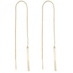 J by Jasper Conran - Designer polished bar thread through earring