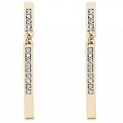 J by Jasper Conran - Designer crystal encased gold stick drop earring