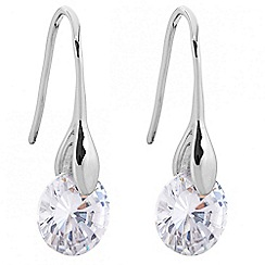 J by Jasper Conran - Designer cubic zirconia polished stick drop earring
