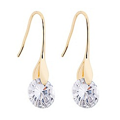 J by Jasper Conran - Designer cubic zirconia gold stick drop earring