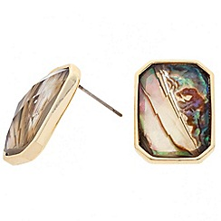 J by Jasper Conran - Designer marbleised square stone stud earring