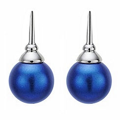 J by Jasper Conran - Blue pearl drop earring