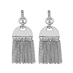 J by Jasper Conran - Polished tassle chain chandelier earring