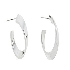 J by Jasper Conran - Designer polished angular hoop earring