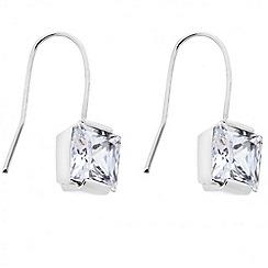 J by Jasper Conran - Designer square cubic zirconia drop earring