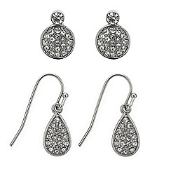J by Jasper Conran - Pave crystal earring pack