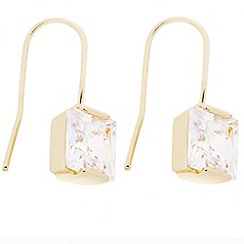 J by Jasper Conran - Designer square cubic zirconia gold drop earring