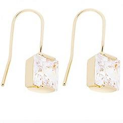 J by Jasper Conran - Designer square cubic zirconia gold drop earring